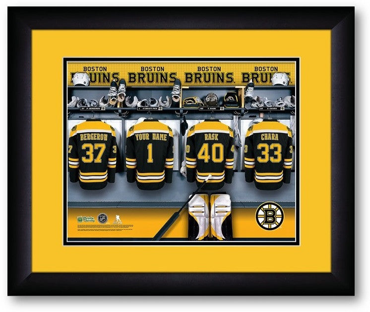 Boston Bruins NHL Personalized Locker Room Print - Sports Fans Plus  - 2