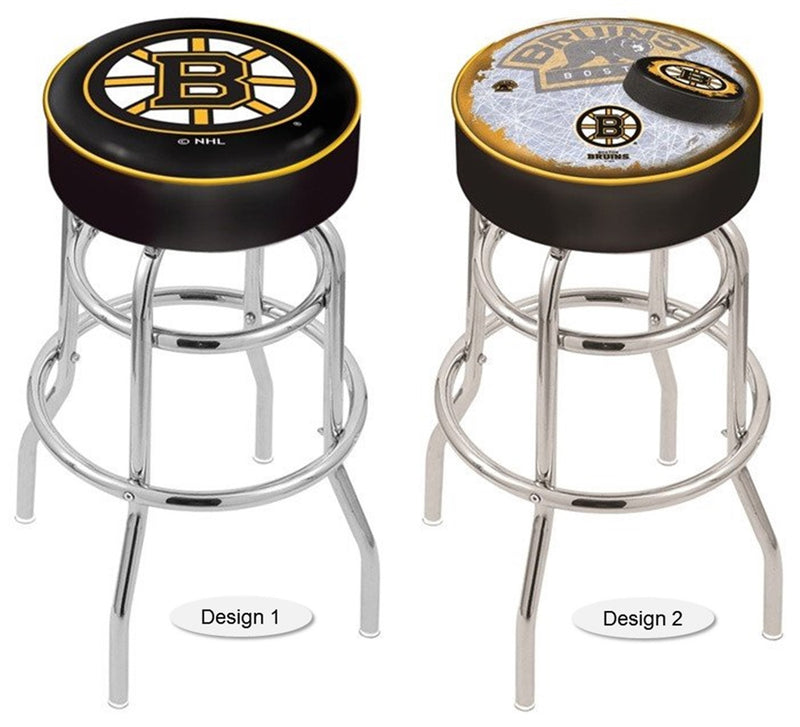 Boston Bruins NHL Retro Chrome Bar Stool