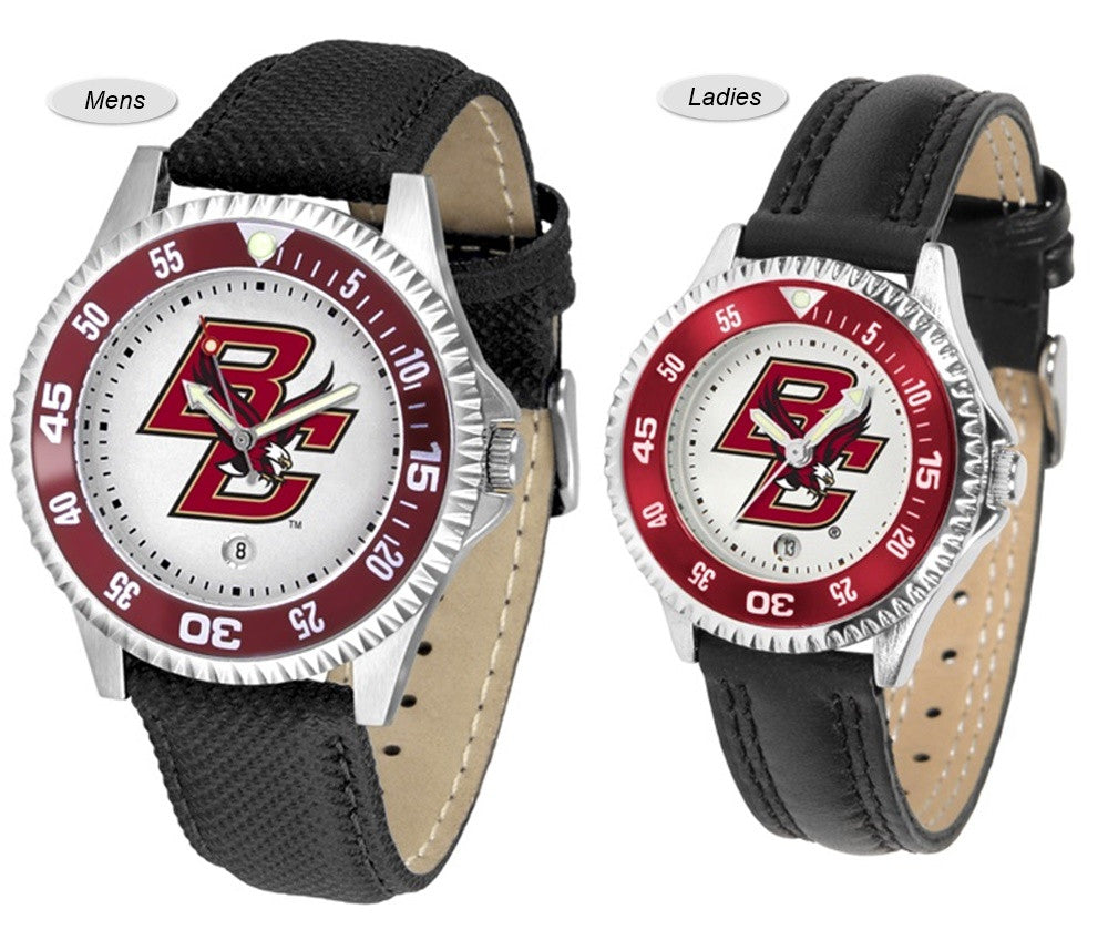 Boston College Eagles Competitor Sport Leather Watch
