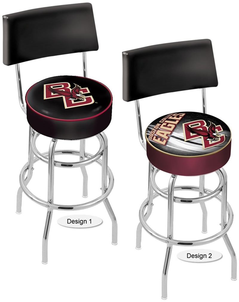 Boston College Eagles Retro Chrome Bar Stool with Back