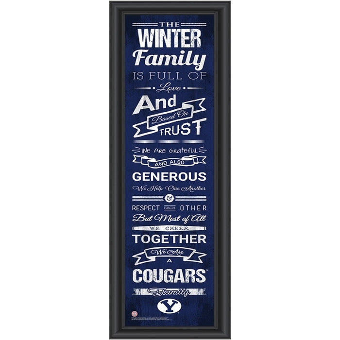 Brigham Young Cougars Personalized Family Cheer Print - Sports Fans Plus