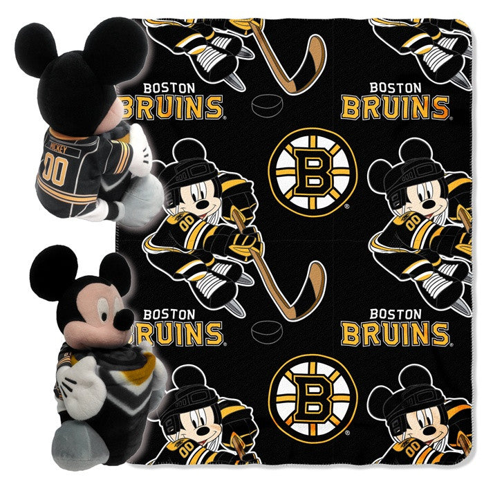 Boston Bruins NHL Mickey Mouse Hugger with Throw - Sports Fans Plus