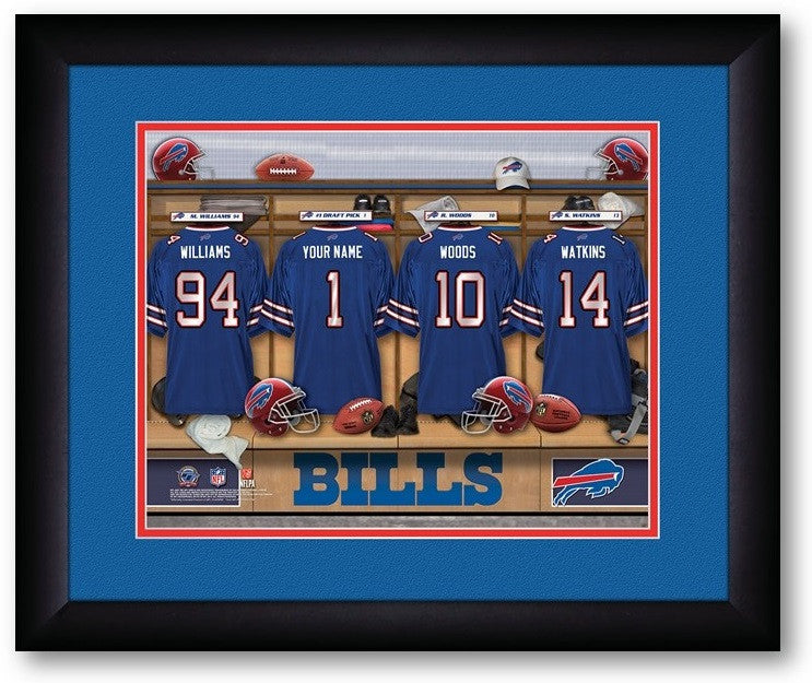 Buffalo Bills NFL Personalized Locker Room Print - Sports Fans Plus  - 2