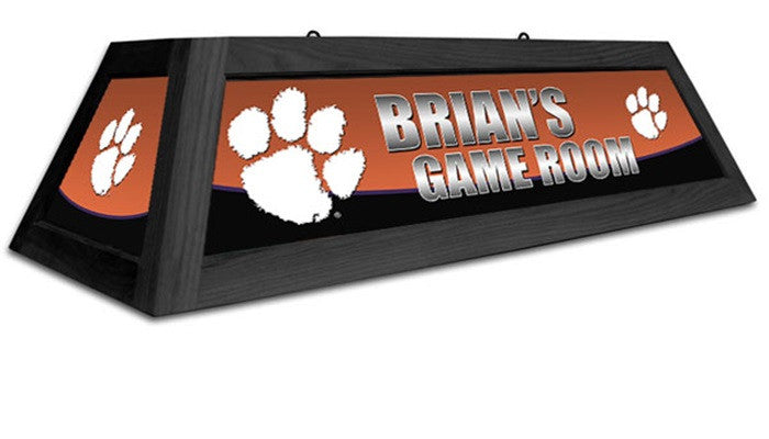 Clemson Tigers Customizable Game Table Lamp - Sports Fans Plus