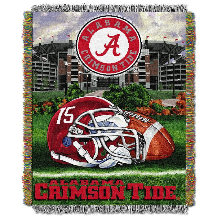 Alabama Crimson Tide Home Field Advantage Tapestry Throw - SportsFansPlus.com