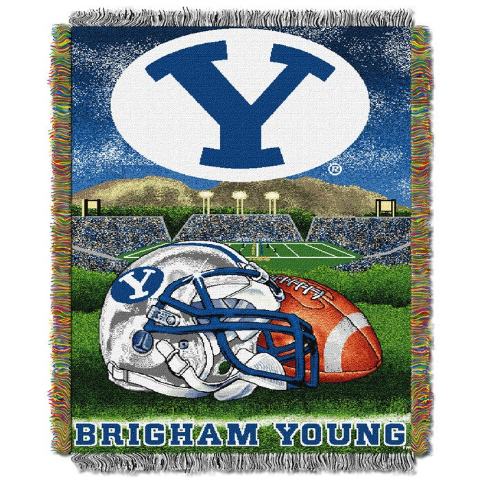 Brigham Young Cougars Home Field Tapestry Throw - Sports Fans Plus