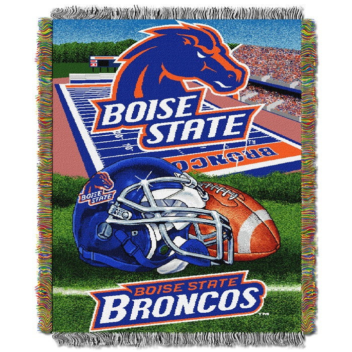 Boise State Broncos Home Field Tapestry Throw - Sports Fans Plus
