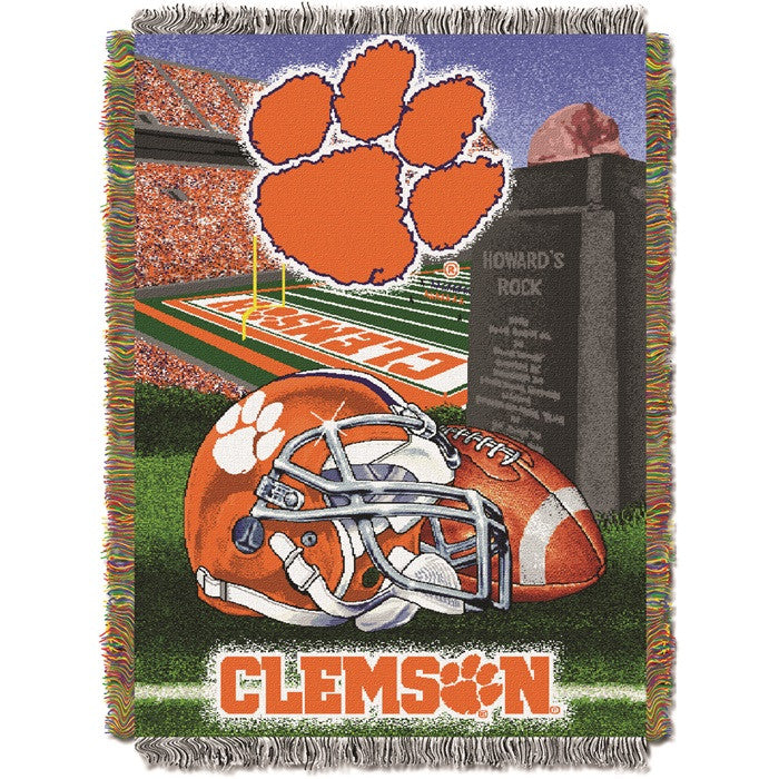 Clemson Tigers Home Field Tapestry Throw