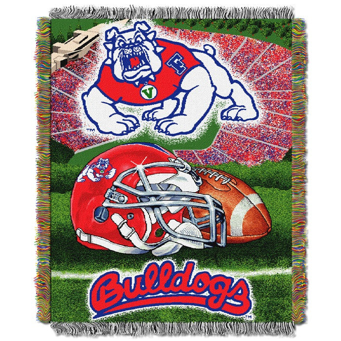Fresno State Bulldogs Home Field Tapestry Throw - Sports Fans Plus