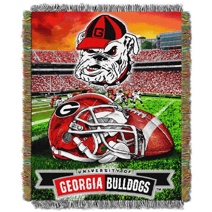 Georgia Bulldogs Home Field Tapestry Throw - Sports Fans Plus