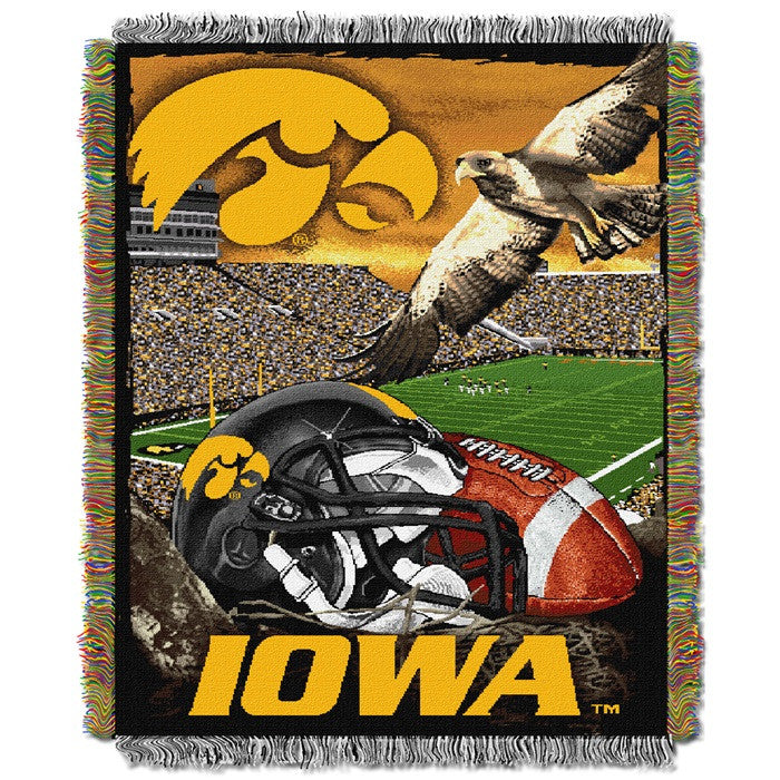 Iowa Hawkeyes Home Field Tapestry Throw - Sports Fans Plus