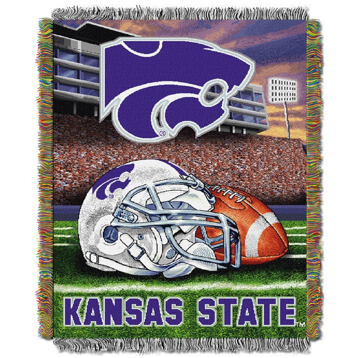 Kansas State Wildcats Home Field Tapestry Throw - Sports Fans Plus
