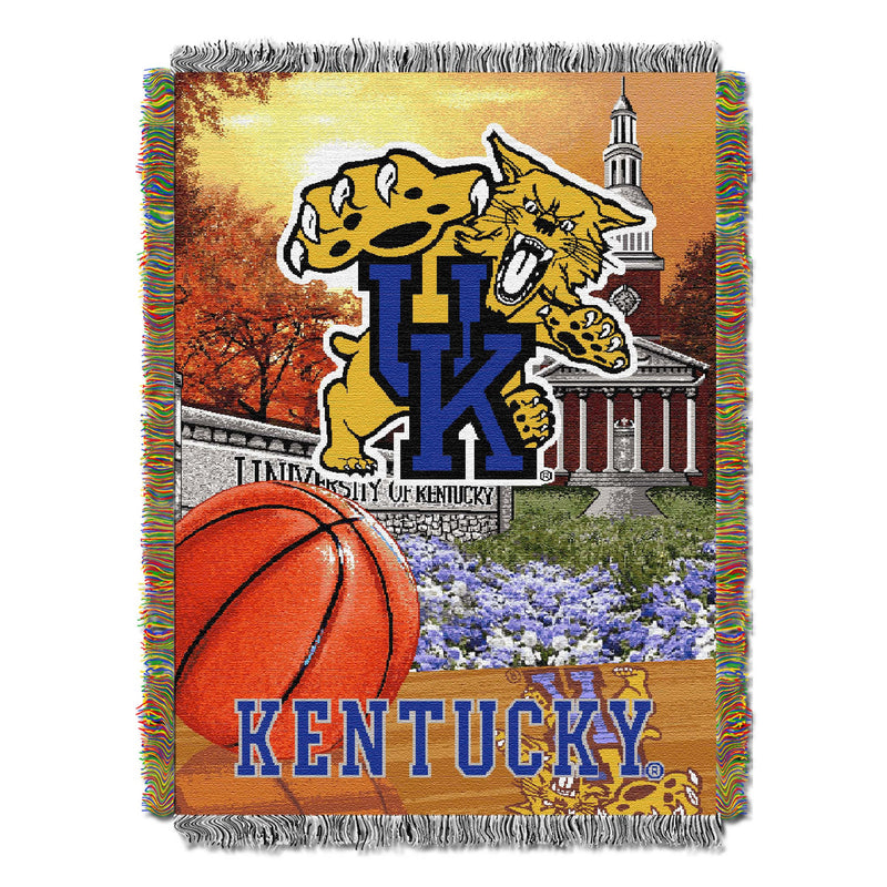 Kentucky Wildcats Home Field Tapestry Throw