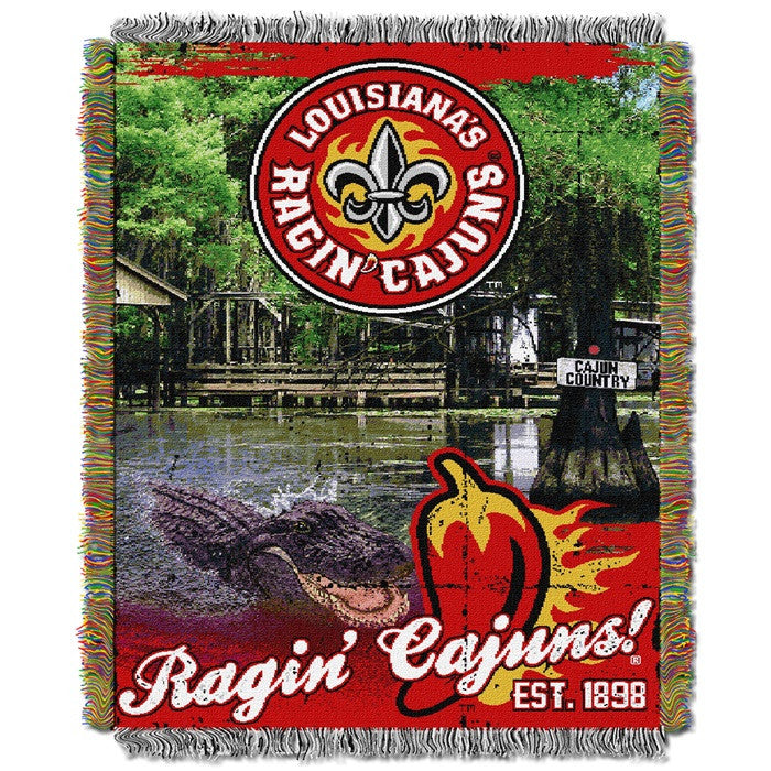 Louisiana at Lafayette Ragin' Cajuns Home Field Tapestry Throw - Sports Fans Plus