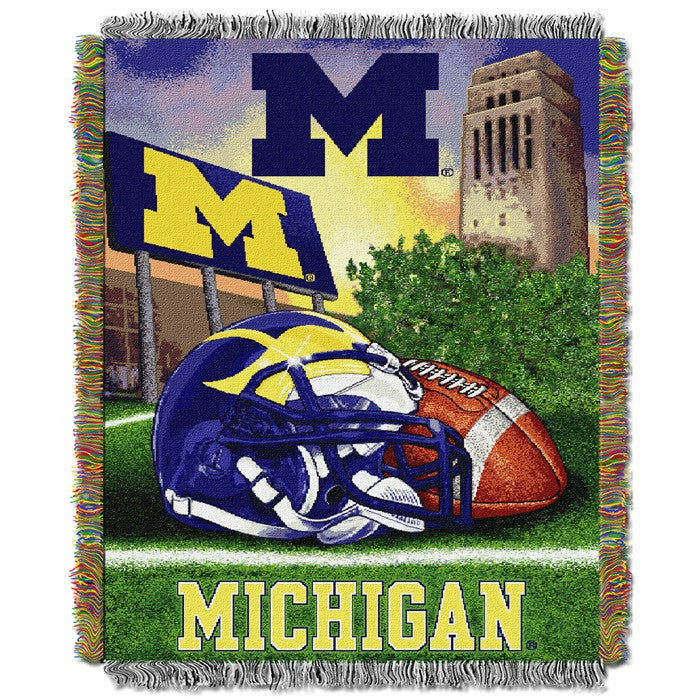 Michigan Wolverines Home Field Tapestry Throw - Sports Fans Plus
