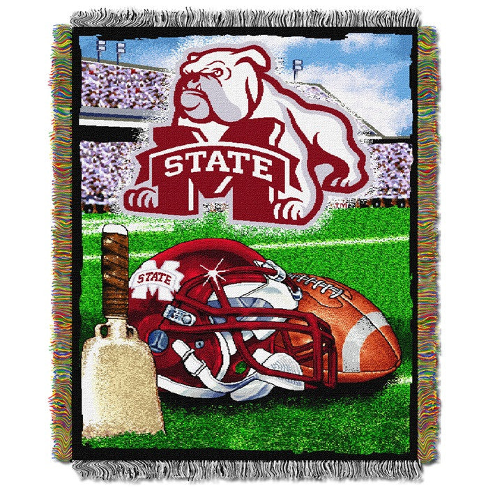 Mississippi State Bulldogs Home Field Tapestry Throw - Sports Fans Plus