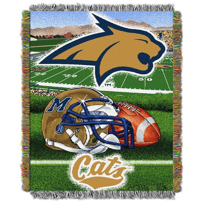 Montana State Bobcats Home Field Tapestry Throw - Sports Fans Plus