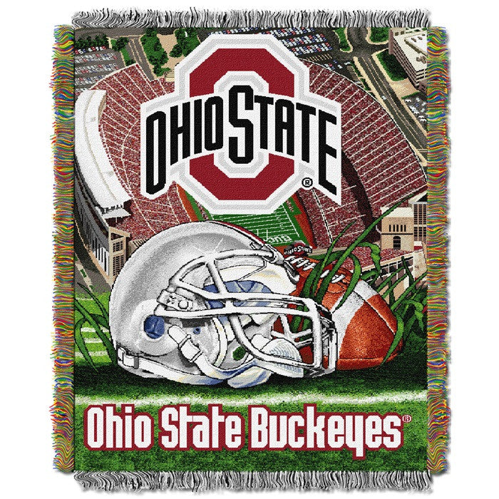 Ohio State Buckeyes Home Field Tapestry Throw - Sports Fans Plus
