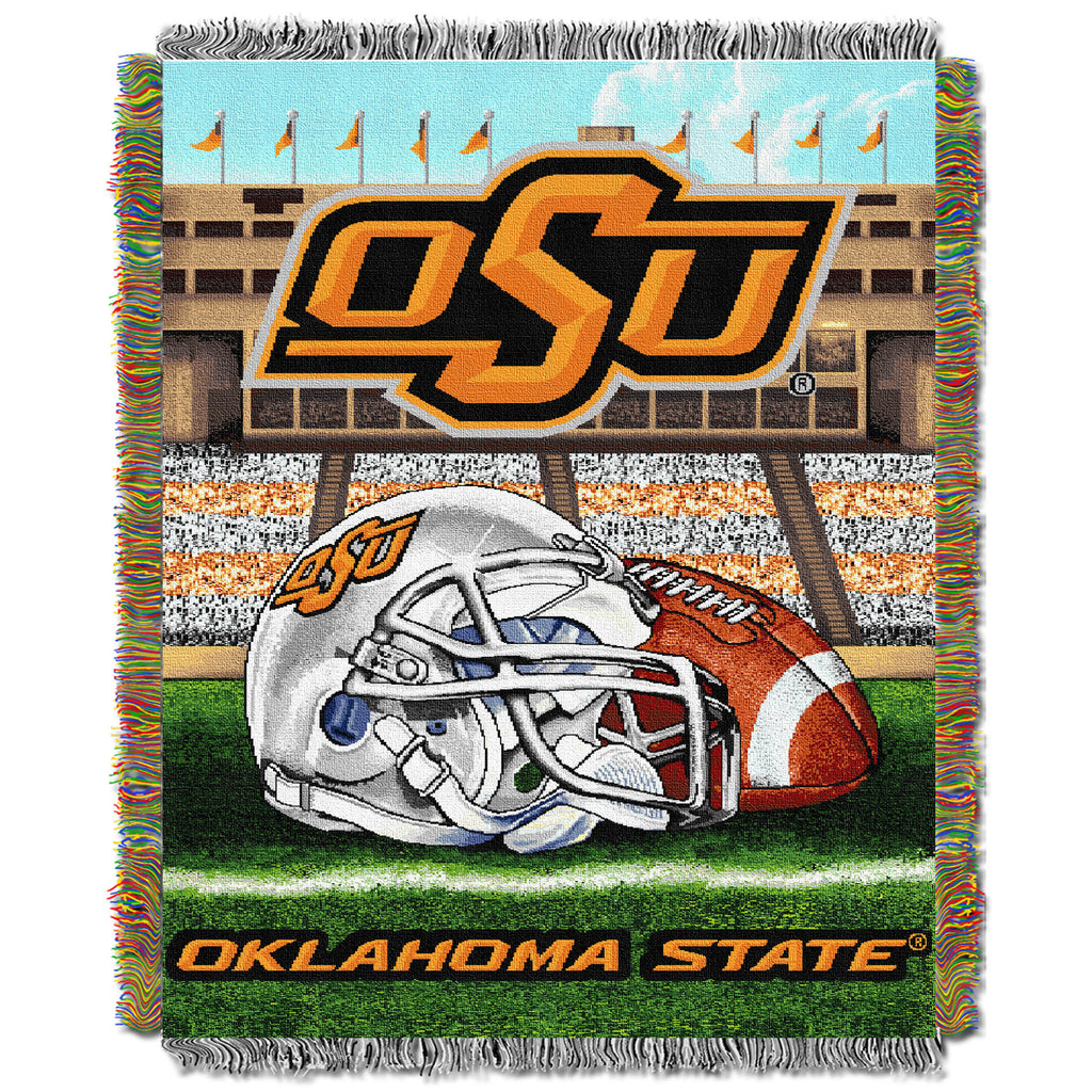Oklahoma State Cowboys Home Field Tapestry Throw