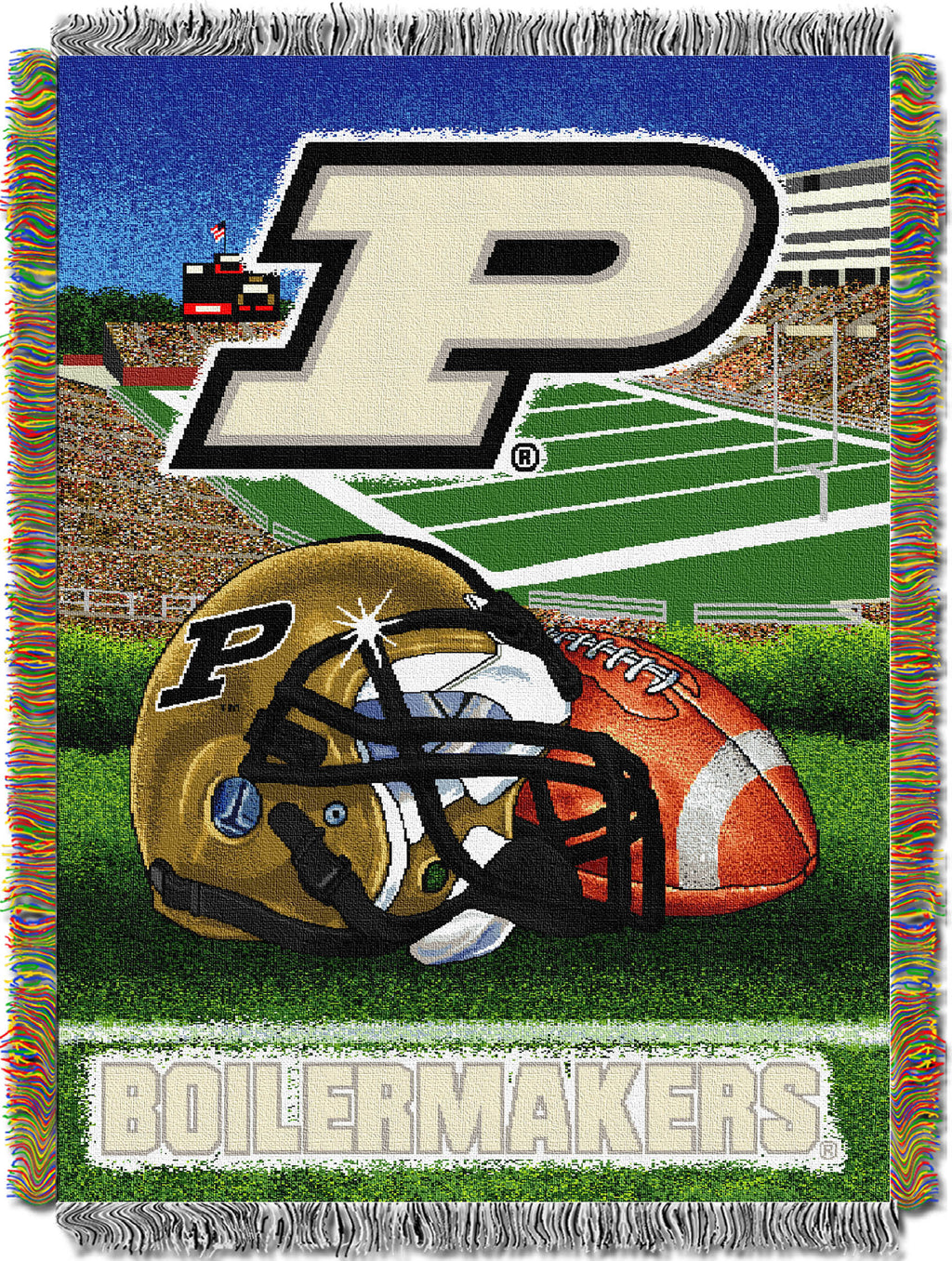 Purdue Boilermakers Home Field Advantage Tapestry Throw
