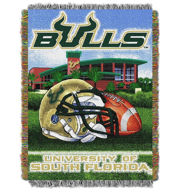 South Florida Bulls Home Field Tapestry Throw