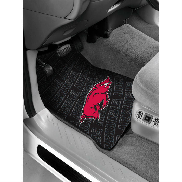 Arkansas Razorbacks Car Floor Mats - Sports Fans Plus