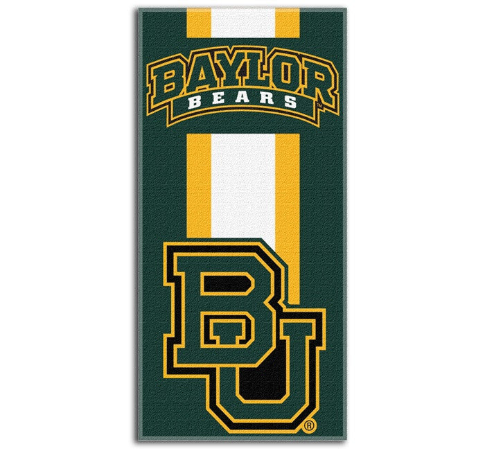 Baylor Bears Zone Read Beach Towel