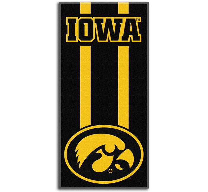 Iowa Hawkeyes Zone Read Beach Towel