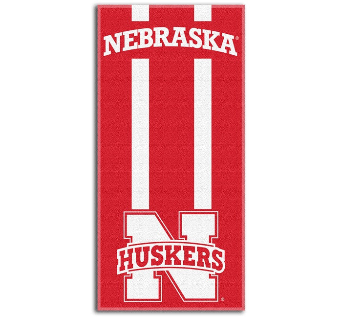Nebraska Huskers Zone Read Beach Towel