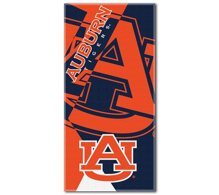 Auburn Tigers Puzzle Beach Towel