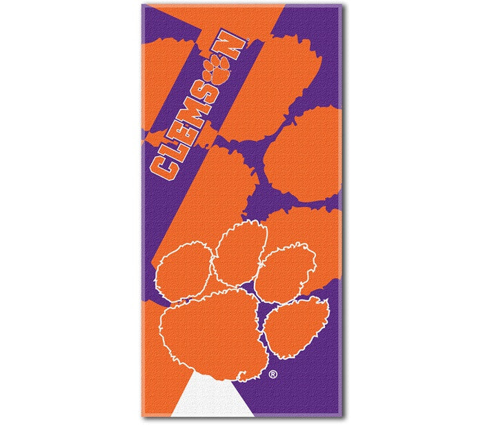 Clemson Tigers Puzzle Beach Towel