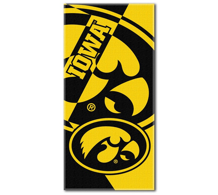 Iowa Hawkeyes Puzzle Beach Towel