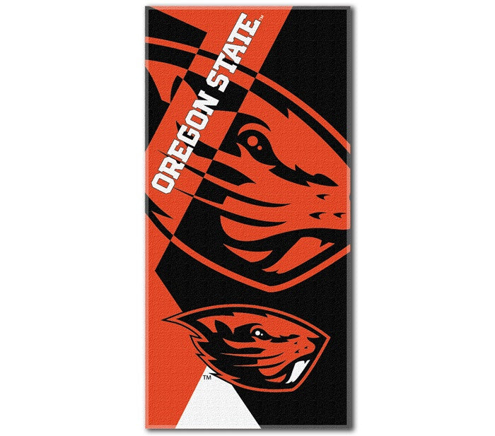 Oregon State Beavers Puzzle Beach Towel
