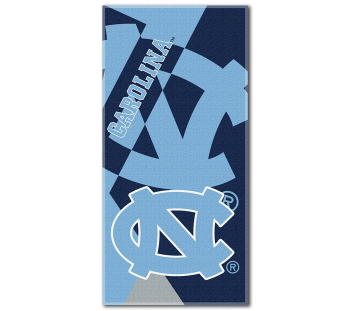 North Carolina Tar Heels Puzzle Beach Towel