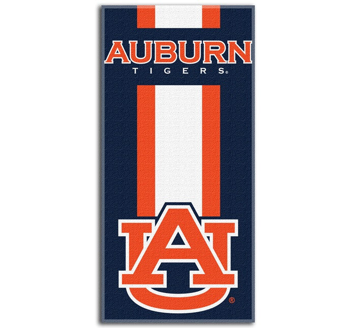 Auburn Tigers Zone Read Beach Towel