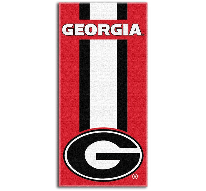 Georgia Bulldogs Zone Read Beach Towel