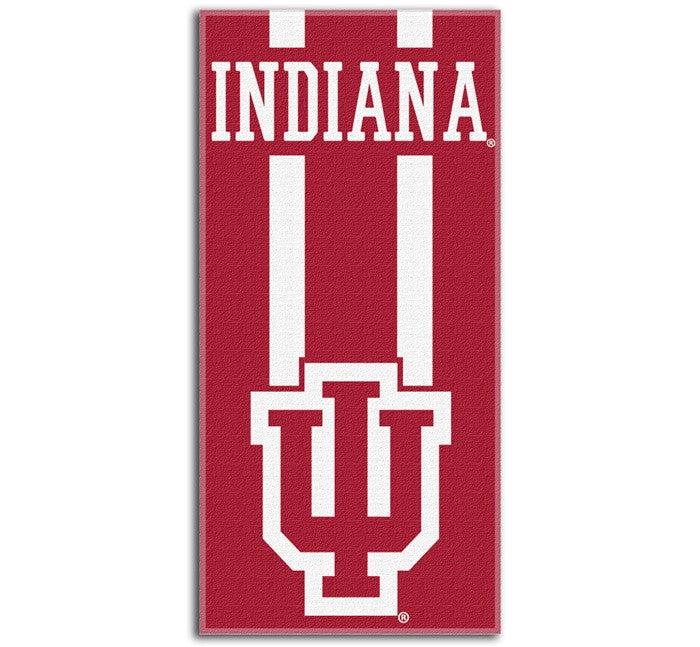 Indiana Hoosiers Zone Read Beach Towel