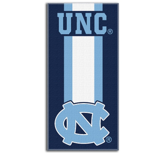 North Carolina Tar Heels Zone Read Beach Towel