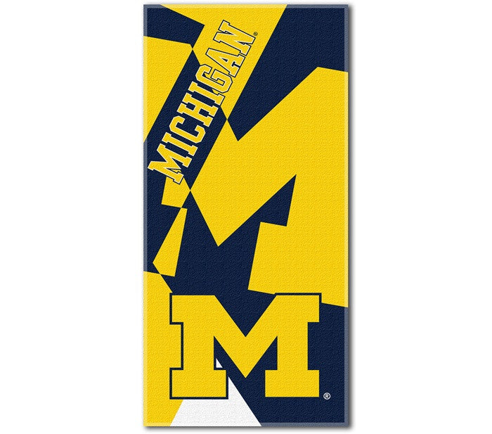 Michigan Wolverines Puzzle Beach Towel