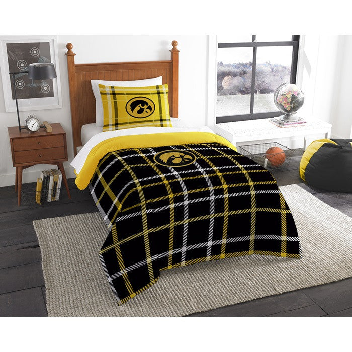 Iowa Hawkeyes Twin Comforter Set - Sports Fans Plus