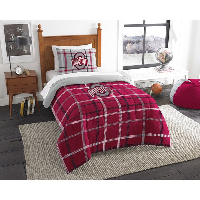 Ohio State Buckeyes Twin Comforter Set - Sports Fans Plus