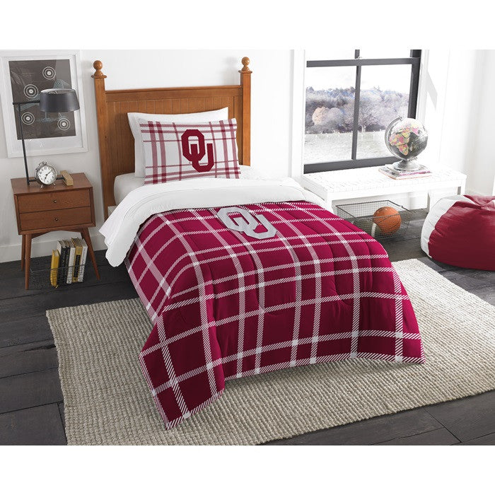 Oklahoma Sooners Twin Comforter Set - Sports Fans Plus
