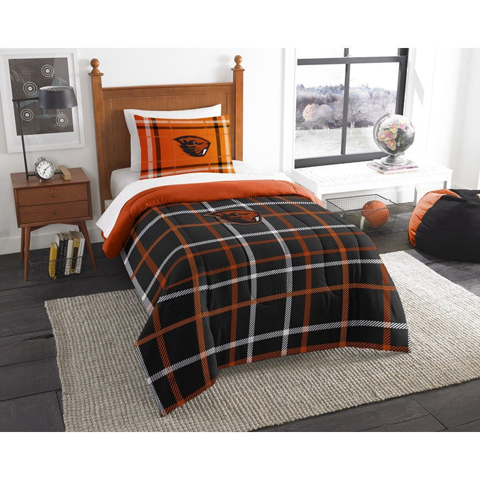 Oregon State Beavers Twin Comforter Set - Sports Fans Plus