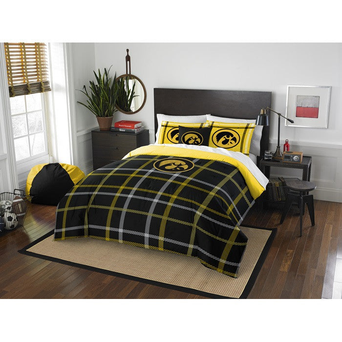 Iowa Hawkeyes Full Comforter Set - Sports Fans Plus