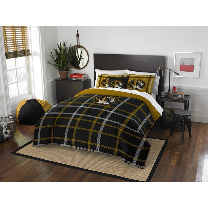 Missouri Tigers Full Comforter Set - Sports Fans Plus