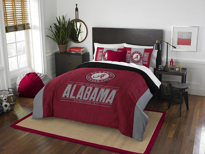 Alabama Crimson Tide Modern Take Full Comforter Set