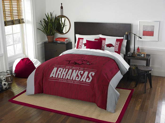 Arkansas Razorbacks Modern Take Full Comforter Set
