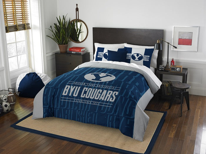 Brigham Young Cougars Modern Take Full Comforter Set