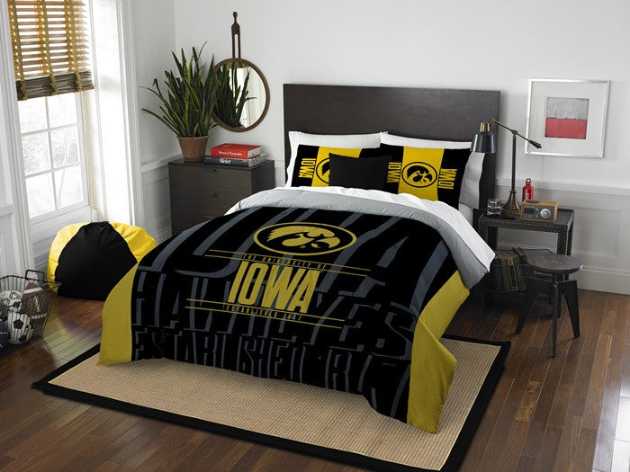Iowa Hawkeyes Modern Take Full Comforter Set