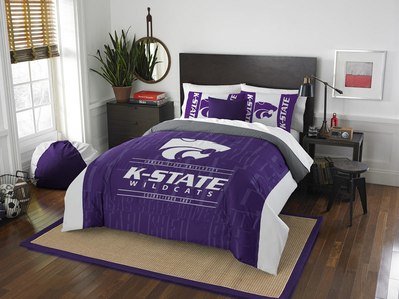 Kansas State Wildcats Modern Take Full Comforter Set